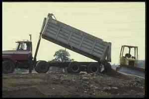 Image Is Loading 063063 Dump Truck Unloading Highway Dirt A4 Photo