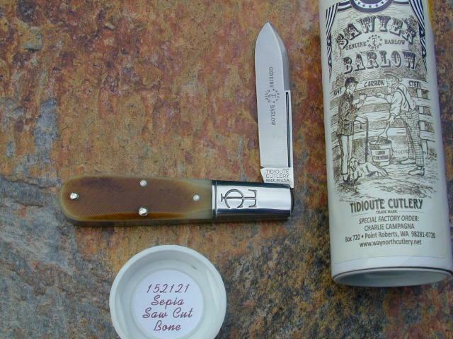 GREAT EASTERN GEC TIDIOUTE SEPIA SAW CUT BONE BARLOW KNIFE RARE SFO MIT 152121
