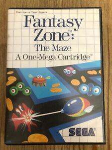 Fantasy-Zone-The-Maze-Sega-Master-System-Complete-W-box-amp-Manual