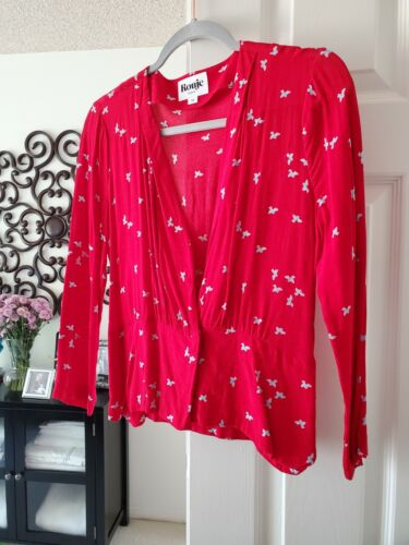 Rouje Size 36 - GORGEOUS Red Long-sleeved Blouse!❤