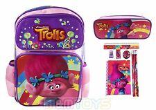 "DreamWorks Trolls Poppy 16"" School Backpack w/ Pencil Pouch + Stationery Set"