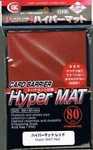 80 Sleeves, Hyper Mat Red KMC Standard Sleeves