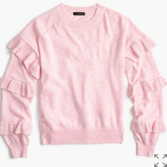 JCrew sweater with ruffle sleeves