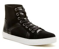 Guess Toledo Men's Suede Hi-top Fashion/athletic Sneaker Shoes, Black, Size 11.5