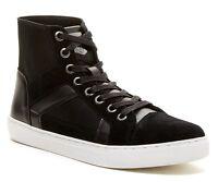 Guess Toledo Men's Suede Hi-top Fashion/athletic Sneaker Shoes, Black, Size 11.5