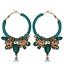 Fashion Femmes Velours Fil tressés oreille clip créoles perles éléphant Pendentif Boucles D/'oreilles