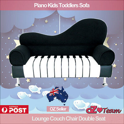 Kids Toddlers Sofa Lounge Couch Piano Double Seat Brand New