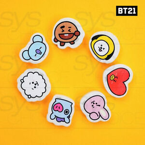 BTS-BT21-Official-Authentic-Goods-Eraser-7Characters-SET-By-Kumhong-Fancy