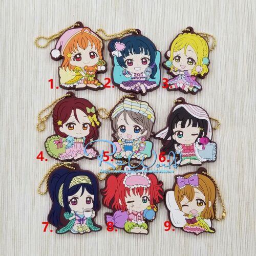 Aqours Anime Figure Rubber Strap Charm Keychain Love Live ! Lovelive Sunshine!