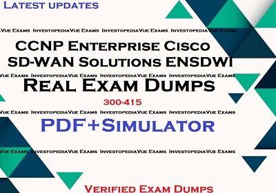 300 415 Ccnp Cisco Sd Wan Soluciones Empresariales Ensdwi P Y R Simulador Ebay