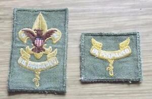 2-x-Vintage-American-Boy-Scouts-Cloth-Badges-United-States-USA