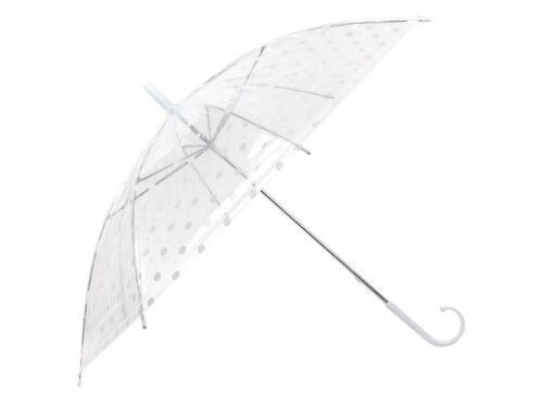 Canne parapluie transparent pluie-parapluie Dots City pointillés avec poignée couleurs