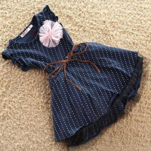 Baby Girl Kids Princess Dress Polka Dot Party Sleeveless Wedding Dresses Clothes