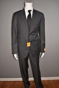 HICKEY FREEMAN NEW $1495 Classic B Fit Loro Piana Wool Suit Men's 42 Long
