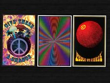 BLACKLIGHT POSTER 3 INDIVIDUAL BRAND NEW POSTERS PEACE TRIPPY PSYCHADELIC