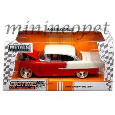 Jada 98938 1955 Chevrolet Bel Air Red BIGTIME Muscle 1/24 Diecast Model Car