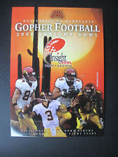 2006 Insight Bowl Minnesota vs Texas Tech Program Postcard Official Reproduction