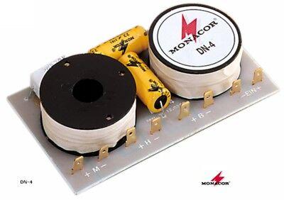 Motiviert 2 Stück Frequenzweiche Monacor Dn-4 (8 Ohm, 3-weg, 650/6000hz, 12/6db)