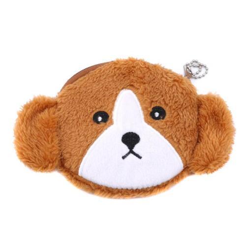 New Design Kids Puppy Dog Shaped Plush Child Storage Bag Purse Wallets Y