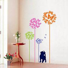 Colorful Butterfly&Cat Wall Sticker Mural Art Vinyl Decals Kids Nursery Decor lu