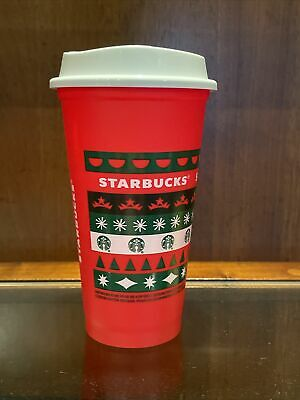 STARBUCKS 2020 Reusable Cup Grande 16oz Red HOLIDAY Xmas Christmas Free Shipping