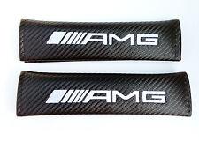 Carbon Fibre Fiber Effect seat belt shoulder pads for AMG Mercedes. C63 A43 E63