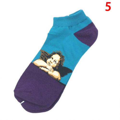 Retro Women Art Van Gogh Mural World Famous Painting Socks Men Oil Funny So ftJB