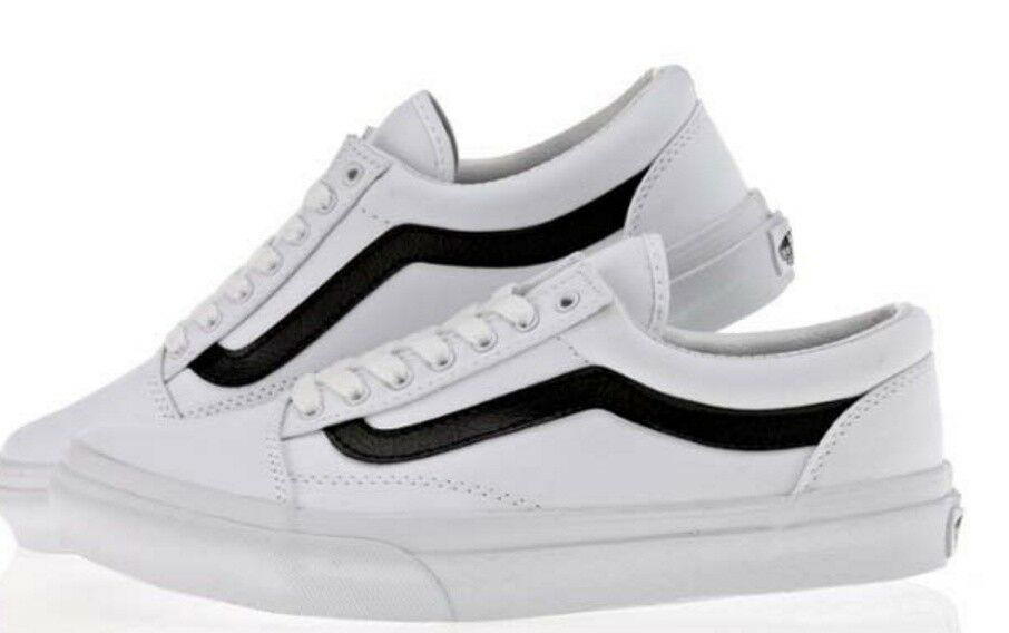 VANS OLD SKOOL WHITE COTTON NEW STYLE V36CL MDC