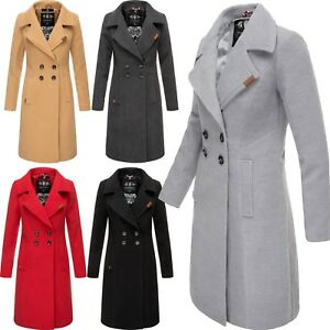 newest collection d5354 d6cd1 Details zu Navahoo Damen Winter Jacke Mantel Business Trenchcoat  Wintermantel Parka WOOLY