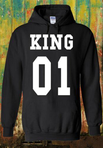 King Or Queen His And Hers Valentine Men Women Unisex Top Sweatshirt Hoodie 1530