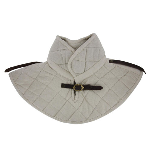 Knights Cotton Padding Collar  Armor Medieval Garment White