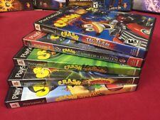 Crash Bandicoot Lot 4 PS2 Titans, Nitro Kart, TwinSanity, Cortex! +Tag Team CASE