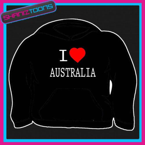 I love coeur Australie Sweat à capuche toutes les tailles et couleurs