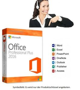 Ms Microsoft Office 2016 Professional 1a Support Kein Abo