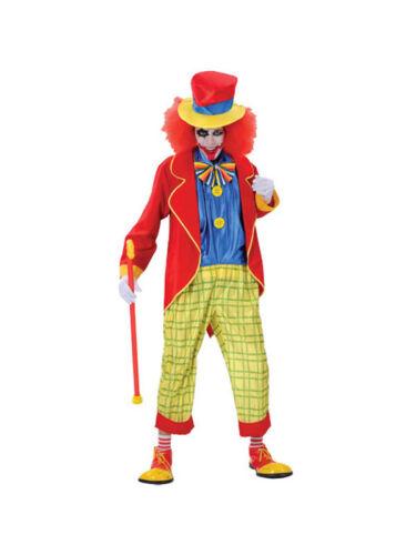 Adult Mens Krazy Killer Clown Crazy Circus Halloween Hatter Fancy Dress Costume