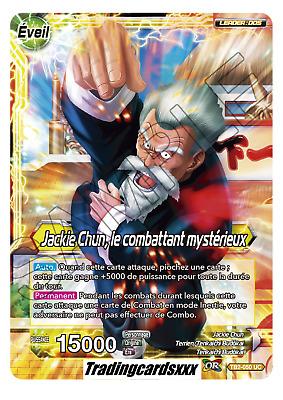 Carte Dragon Ball Super JACKIE CHUN VICTOIRE INFLEXIBLE TB2-058 SR DBZ FR NEUF