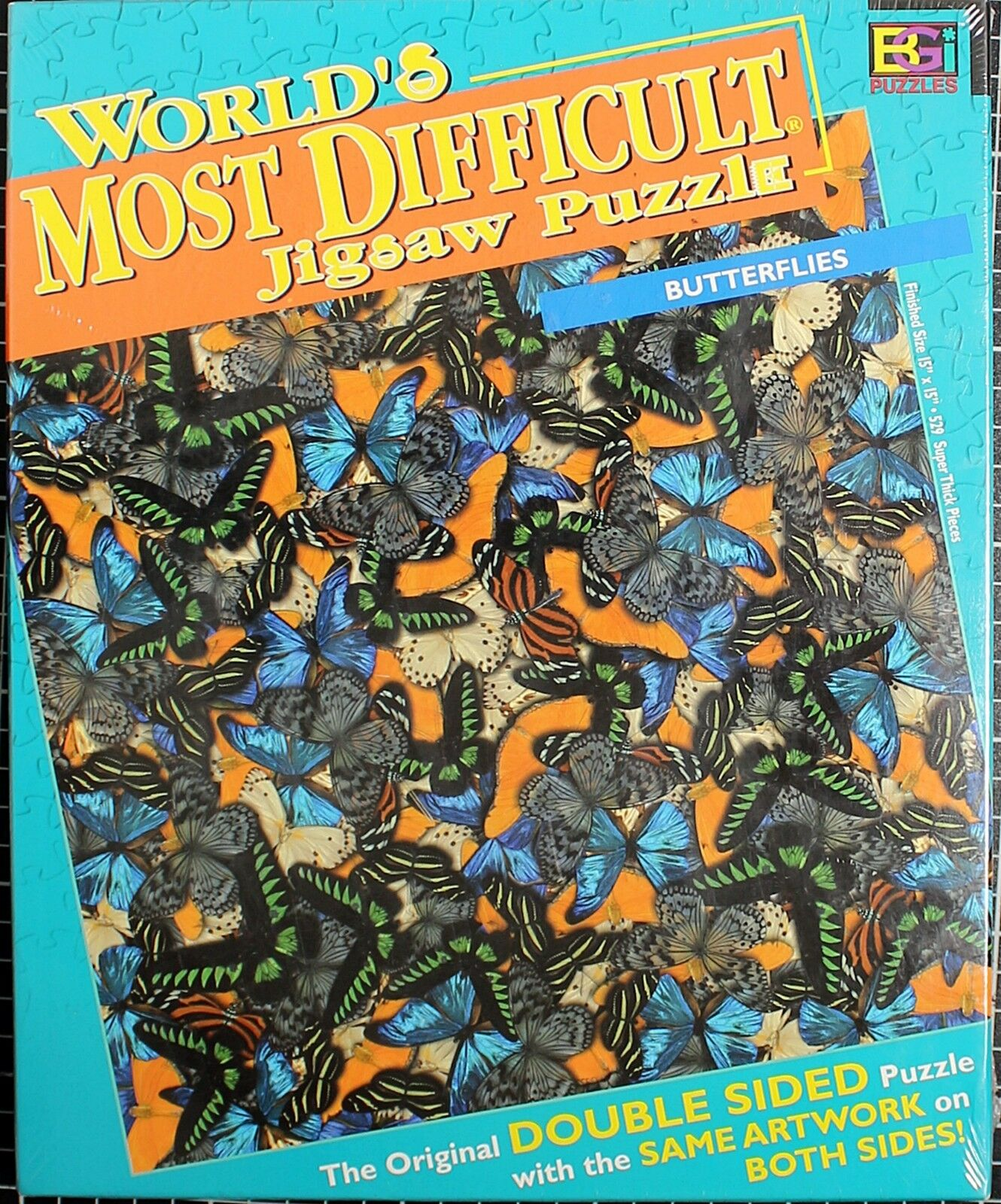 butterflies worlds most difficult jigsaw puzzle double 2 sided 529