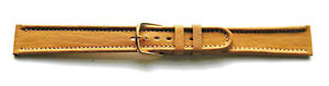16mm-FLEURUS-TAN-STITCHED-LEATHER-WATCH-BAND-STRAP-RIBBED-EDGES
