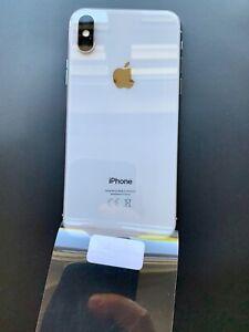 Original-iPHONE-10-X-Blanco-Carcasa-de-chasis-posterior-y-genuino-piezas-pequenas-Grado-A