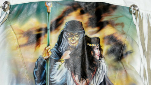 One Of A Kind Vintage Airbrush Grim Reaper White F