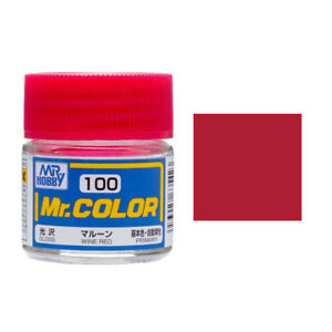 Image Is Loading Mr Hobby Color C100 Wine Red Paint 10ml