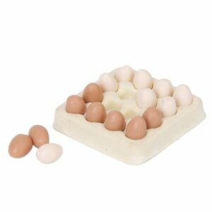 1/12 dollhouse miniature egg carton with 16 pcs eggs dollhouses CT 4894462552247