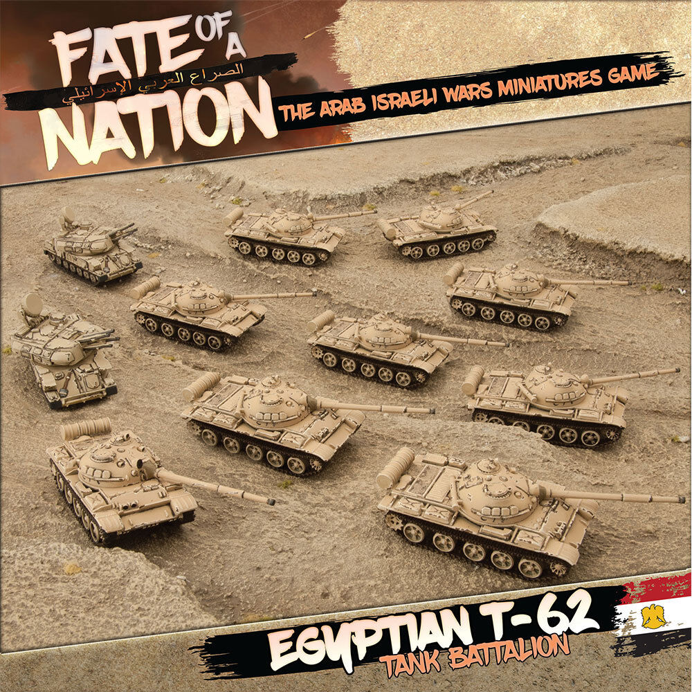 Egyptian T-62 Tank Battalion (Army Deal) Battlefront Miniatures