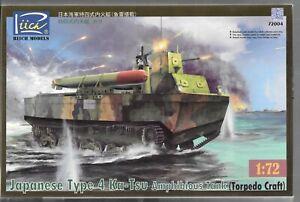 Japanese Type 4  Ka-Tsu Amphibious Tank (Torpedo Craft) in 1/72 004 ST