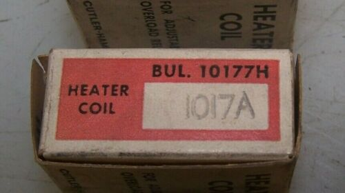 NEW CUTLER-HAMMER HEATER COIL OVERLOAD H1017 1.02 to 1.14 AMPS LOT OF 3 3