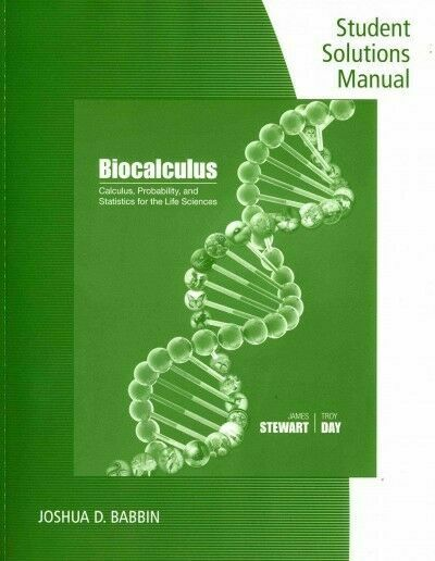 Student Solutions Manual For Stewart  Day U0026 39 S Calculus
