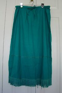 aba5796d0e BEAUTIFUL LONG PENCIL SKIRT WITH FRINGE by ROBERT LOUIS, SZ XL (NWT ...