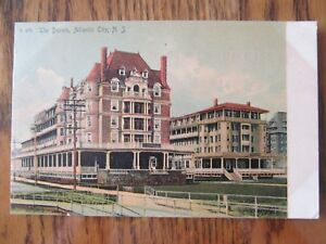 Vintage Postcard The Dennis Atlantic City New Jersey NJ Hotel Building