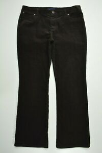 TALBOTS-CURVY-Size-10-P-PETITE-Womens-BROWN-CORDUROY-Bootcut-Leg-STRETCH-Pants