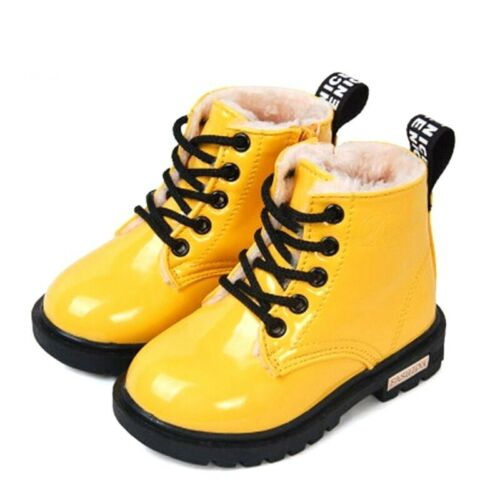 Kids Winter Boots Waterproof Synthetic Leather Snow Shoes Toddler Outdoor Wear